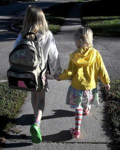 Walking to School, Pink Sherbet Photography